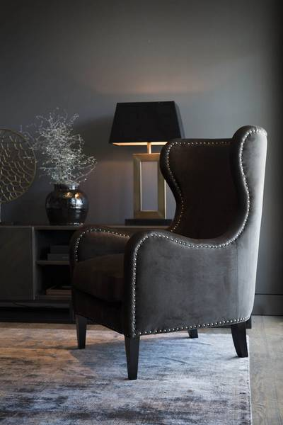 Arezzo Bordlampe Antikk Messing - Artwood