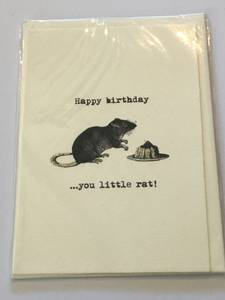 Bilde av Kort - Happy birthday rat -