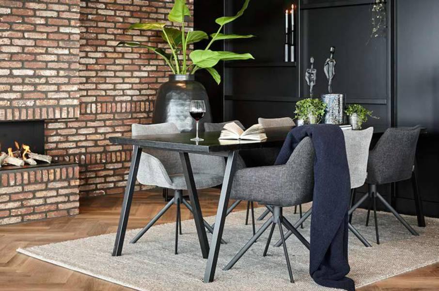 Waregem Spisebord svart - 200X90cm - Trend Collection