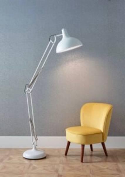 Alonzo gulvlampe - hvit matt