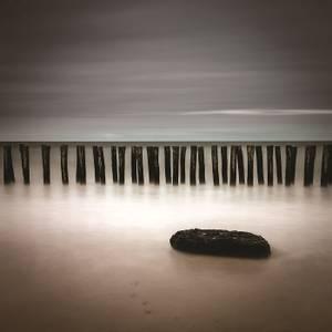 Bilde av Wooden Coastline 120x120 cm -