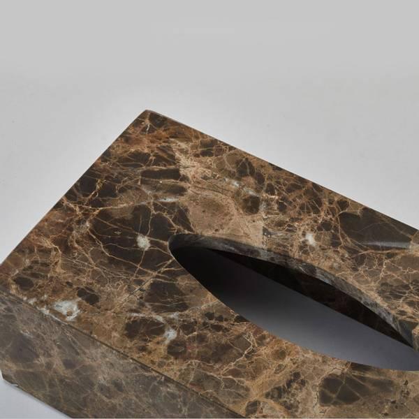 Kleenexholder Brun Marmor - Hammam Aquanova