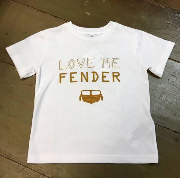 LITTANNA T-skjorte barn,  love me fender, hvit