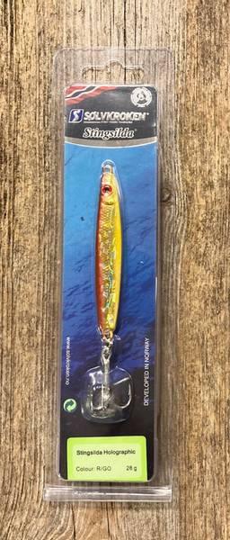 Sølvkroken, Sluk, Stingsilda Holografic, rød/gul 28 g