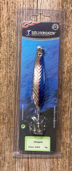 Sølvkroken, Sluk, Vikingsild, blå/sølv 18 g