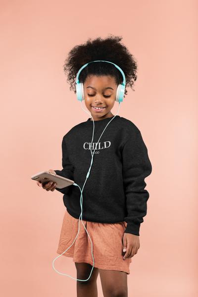 Bilde av CHILD HOOD Unisex Sweatshirt - Black