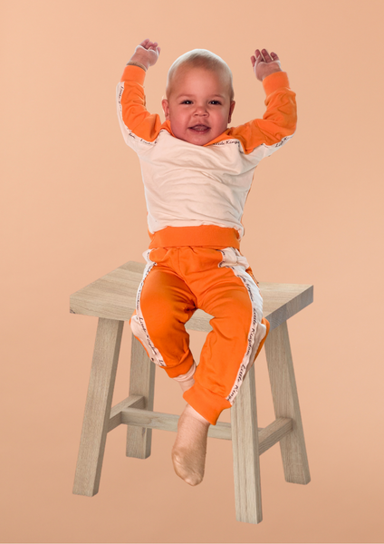 Bilde av Kids Colorblock Unisex Sweatshirt - Orange