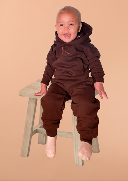 Bilde av Kids Supersoft Unisex Sweatpants - Chocolate