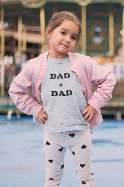 Bilde av Dad + Dad Unisex Kids T-Shirt - Light Blue