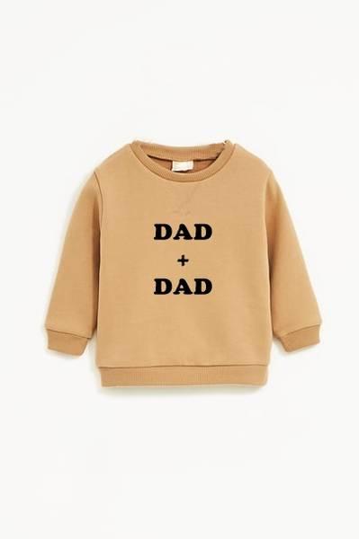 Bilde av Dad + Dad Unisex Sweatshirt - Warm Beige