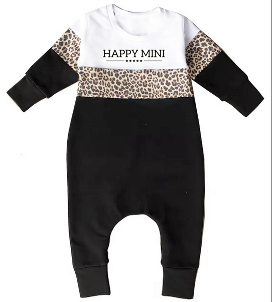 Happy Mini Colorblock One Piece - White Leopard
