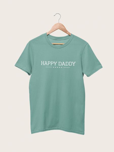 Bilde av Happy Daddy Organic Fitted Tee - Smoke Mint
