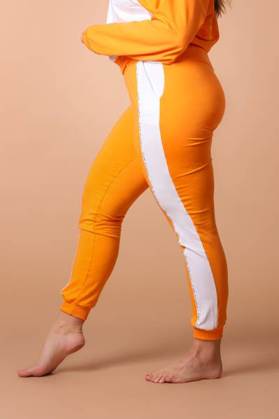 Bilde av Womens Colorblock Sweatpants - Orange