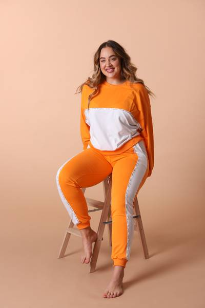 Bilde av Womens Colorblock Sweatshirt  -  Orange