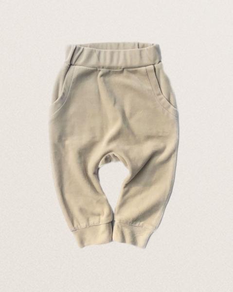 Bilde av Kids Organic Cotton Velour Sweatpants - Light