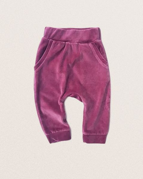 Bilde av Kids Organic Cotton Velour Sweatpants - Washed