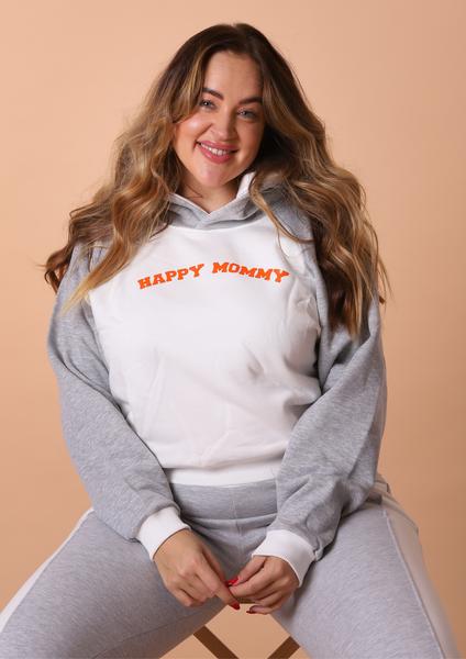 Bilde av Happy Mommy Colorblock Hoodie - Grey