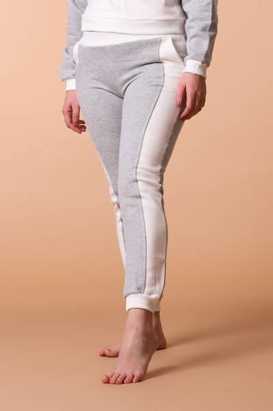 Bilde av Womens Supersoft Colorblock Sweatpants - Grey