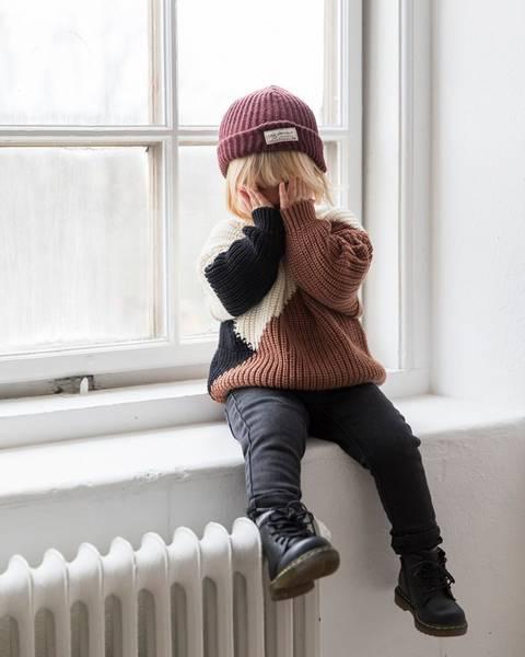 Bilde av Baby & Kids Birk Bobby Colorblock Sweater - Earth