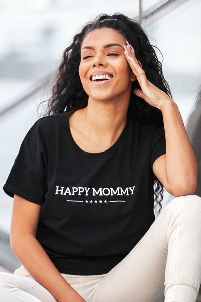 Bilde av Happy Mommy Organic Oversized Tee - Black