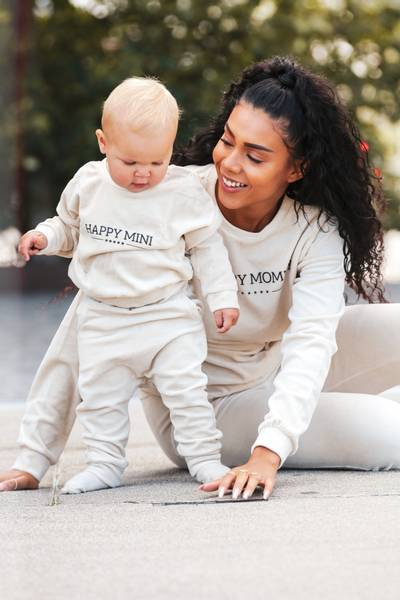 Bilde av Happy Mommy Organic Cotton Velour Sweatshirt -