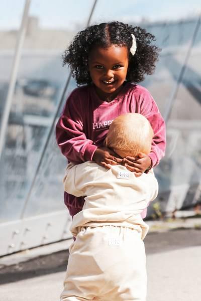 Bilde av Happy Mini Organic Cotton Velour Sweatshirt -