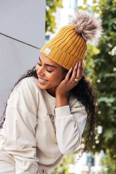Bilde av Kids & Adults Beanie - Mustard