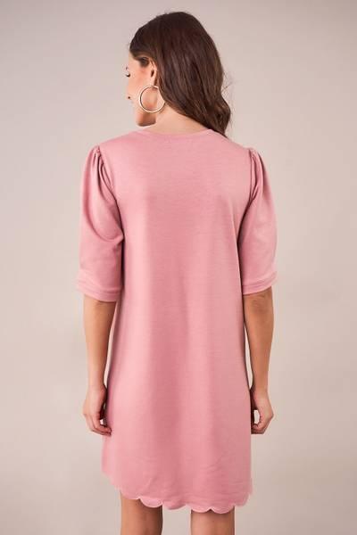 Bilde av Spring Trim Shift Dress - Mauve