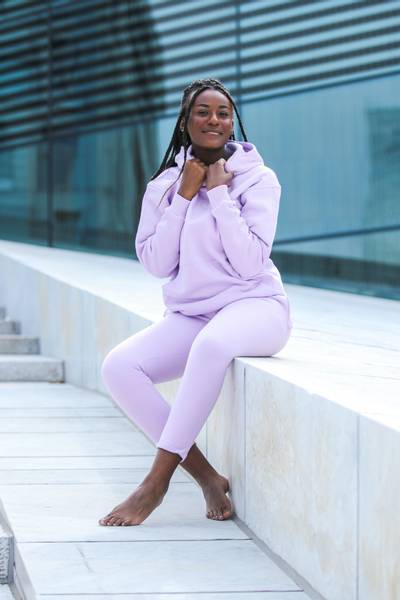 Bilde av LK Embroided Unisex Hoodie - Lavendel