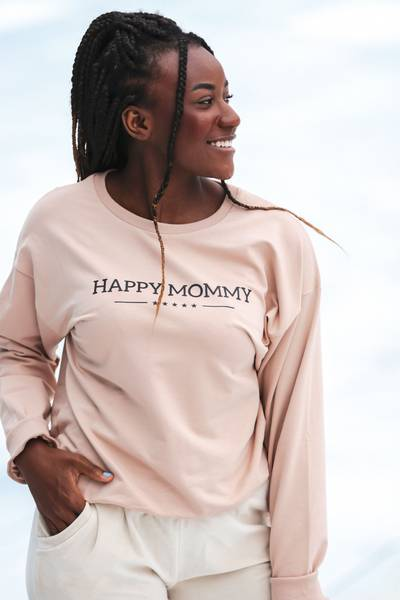 Bilde av Happy Mommy Sweatshirt - Taupe