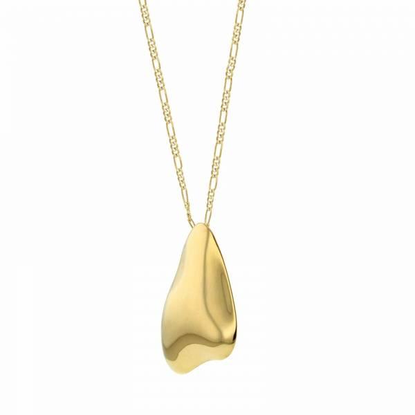 Bilde av HASLA Pebble, Beach Treasure necklace with Figaro chain.