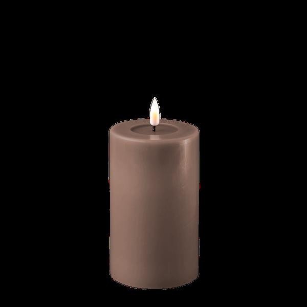 Bilde av DELUXE  REAL FLAME LED CANDLE MOCCA D:7,5CM X H12,5CM