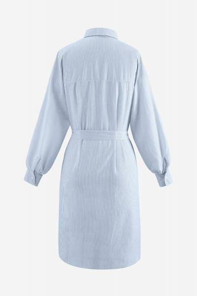 Bilde av Anika Shirt Dress Seersucker Light Blue Stripe NOELLA