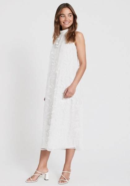 Bilde av DRY LAKE SWAY MID DRESS WHITE FLOWERS