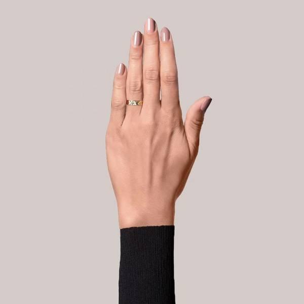 Bilde av Medium Reflection Ring Gold-plated Sterling Silver Jane