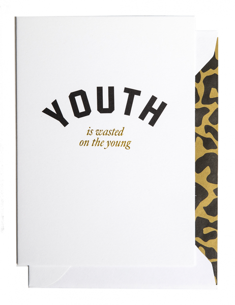 Bilde av CARDSOME - Youth is waisted on the young