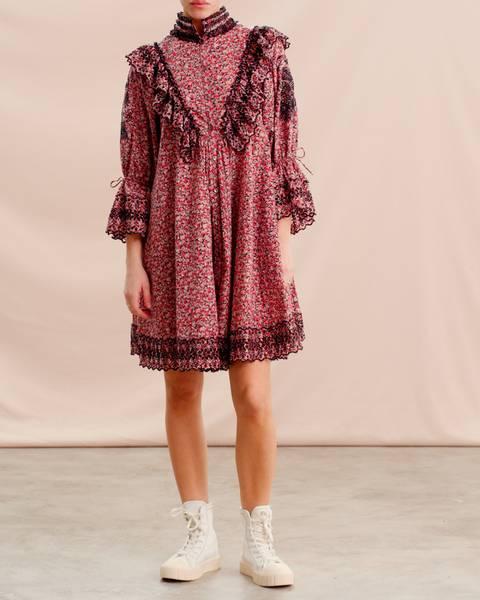 Bilde av byTiMo COTTON SLUB SHIFT DRESS FLOWER FIELD
