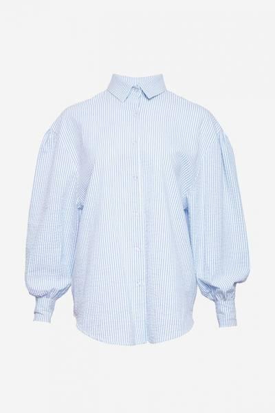 Bilde av Noella Tate Shirt Seersucker Blue/white Stripes