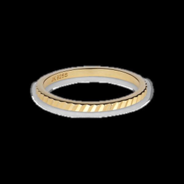 Bilde av JANE KØNIG Small Reflection Ring Gold plated Sterling