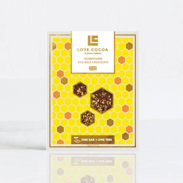 Bilde av LOVE COCOA Honeycomb 41% MILK CHOCOLATE