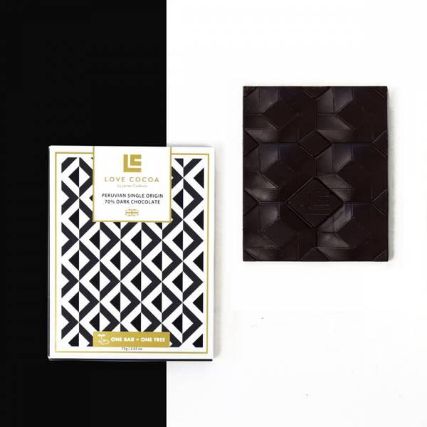 Bilde av LOVE COCOA Peruvian 70% mørk sjokolade