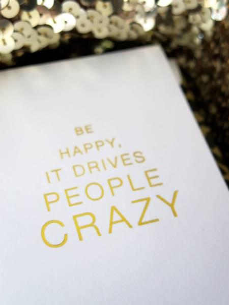 Bilde av CARDSOME MINIS BE HAPPY IT DRIVES PEOPLE CRAZY