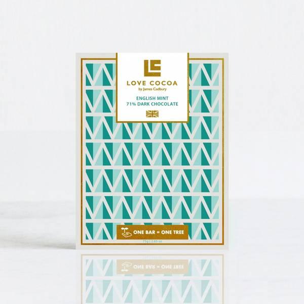 Bilde av LOVE COCOA English Mint 71% Dark Chocolate