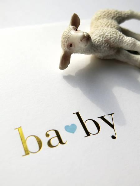 Bilde av CARDSOME BABY  BLUE HEART WHITE