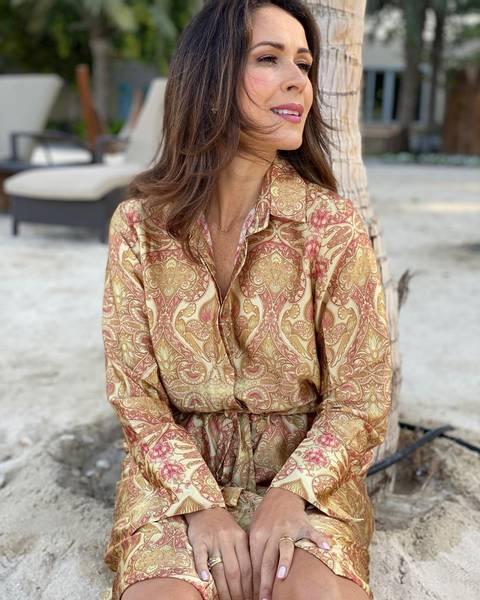 Bilde av KARMAMIA NAKITA DRESS AMBER PAISLEY
