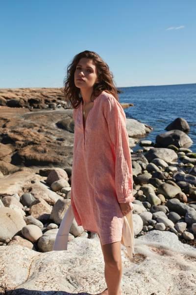 Bilde av KATRIN URI CARMEL EVA LINEN DRESS LIGHT ORANGE