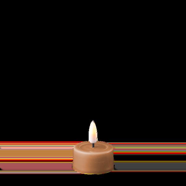 Bilde av DELUXE REAL FLAME LED TELYS CARAMEL