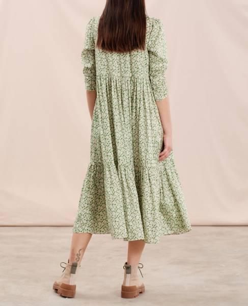 Bilde av Delicate Shirt Dress Green Garden