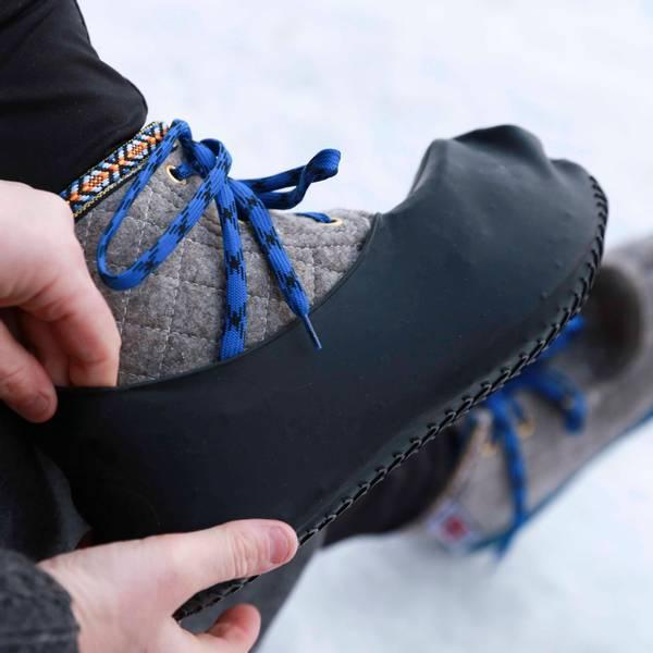 Skoovertrekk, Vanntette gummitrekk til sko