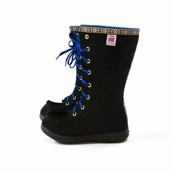 Nesnalobben sko høy svart